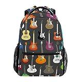 Toprint Music Musical Instruments Guitar Backpack Travel Shoulder Bag Bookbag Daypack for Girls Boys Men Women