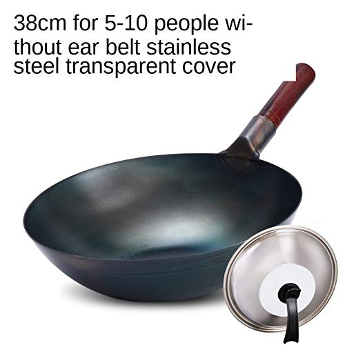 XHDY Handmatige Smeden Pure Wok Wok Ongecoate Gaskachels voor Oud-Fashioned rond-Bottomed Home Pan O