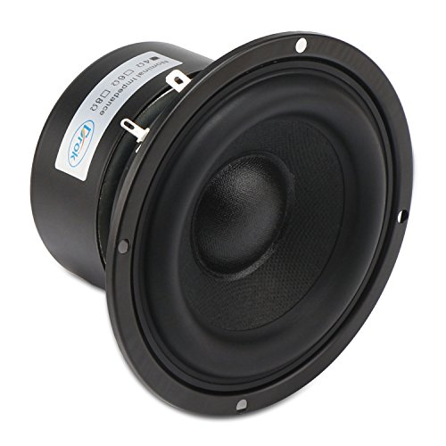 DROK 4 Inches 4 Ohm Audio Speakers, 40W Anti-Magnetic Car Stereo Speakers, 87dB Thumping Bass Loudspeaker Woofer for 2.0 2.1 Home Stereo DIY