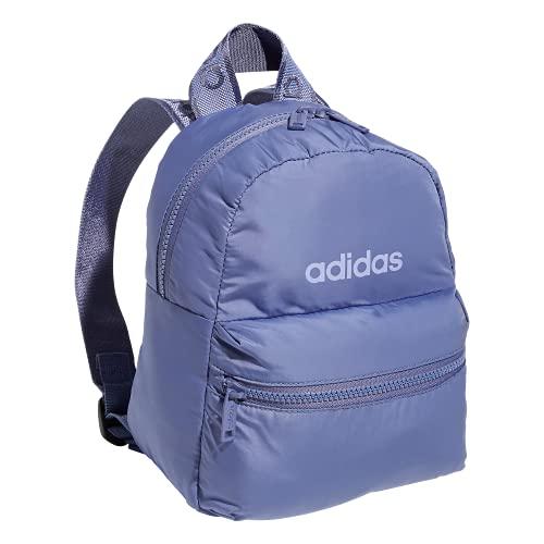 adidas Women's Linear 2 Mini Backpack Small Travel Bag, Orbit Violet Purple/Violet Tone Purple, One Size