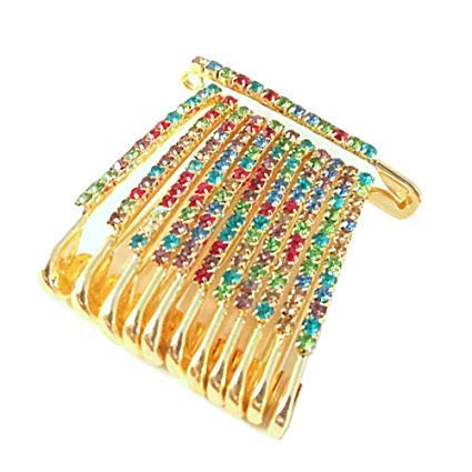 VAMA Fashions Designer Saree Pins Hijab Safety Pin Brooch & Sari Pins for Women
