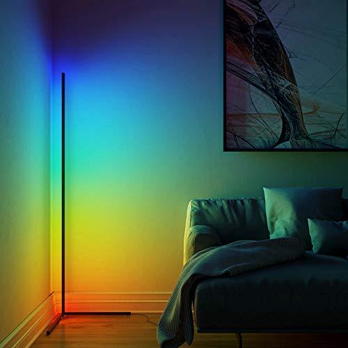 JAKROO Nordischer Stil LED Stehlampe, Eck standleuchte Innenatmosphäre Lampe Einstellbare Helligkeit Kann im Wohnzimmer, Schlafzimmer Dekorative Beleuchtung