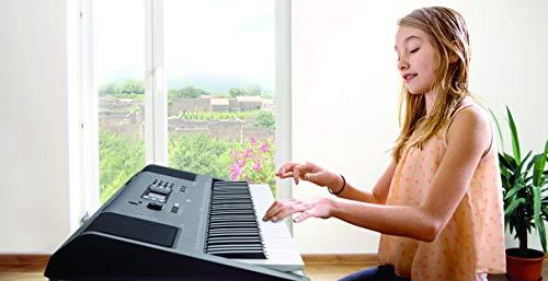 Yamaha Digital Keyboard PSR-EW300, Tastiera Digitale Ottima per Principianti, Design Portatile con 76 Tasti Dinamici e Funzioni di Apprendimento, Nero