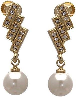 Cody Gold tone faux Pearl Clip On earrings