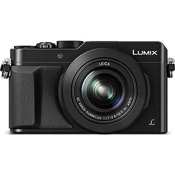 Panasonic LUMIX LX100 4K Point and Shoot Camera 3.1X LEICA DC VARIO-SUMMILUX F1.7-2.8 Lens with Power O.I.S 12.8 Megapixel DMC-LX100K  USA BLACK
