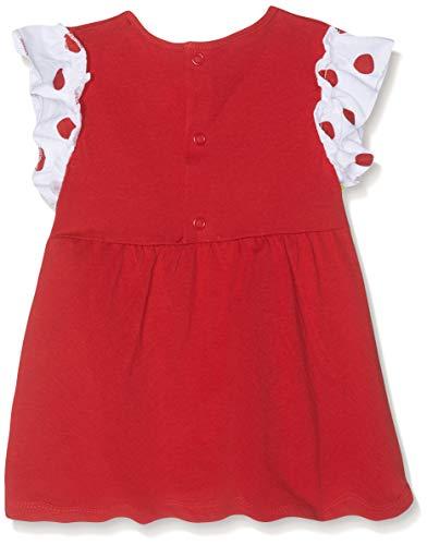 Brums Completo 2 Pezzi: T-Shirt Jersey Senza Manica+Ciclista Completino, Multicolore (Bianco/Rosso 01 915), 80 (Taglia Produttore:12M) (Pacco da 2) Bimba