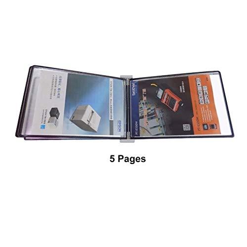 Bxwjg A4 wandmontage displaymap, 5 pagina's sterke magnetische adressorptie pagina map display-map Verschillende kleuren
