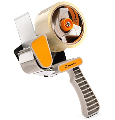 Tapexpert Packing Tape Gun with 1 Roll of Packaging Tape, Easy to Tape Boxes, Seal Cartons, Easy Side Loading, Lightweight and Ergonomic Tape Dispenser for Shipping, Packaging and Moving