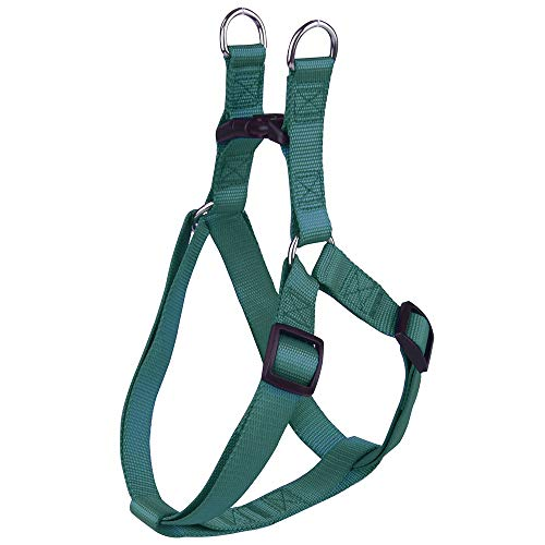 JSLY- 2pcs Nylon Pet Dog Harness No Pull Adjustable Dog Leash Vest Classic Running Leash Strap Belt for Small and Medium Dogs DIY (Color : Green, Size : L)