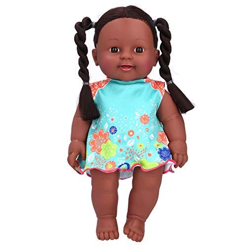 Puppe, süßes Kinderpuppenspielzeug, exquisite 3 Farbe Optional lebensecht für Babykinder(Q12-09 blue and orange contrast skirt)