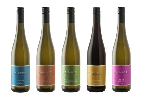 WEIN WISCHER Probierpaket QUALITÄTSWEINE Cuvées Weinpaket (5 x 0,75l) Silvaner & Traminer, Silvaner & Scheurebe, Weiß- & Grauburgunder, Spät- und Frühburgunder, Rosé, Wein, Geschenk, Frankenwein