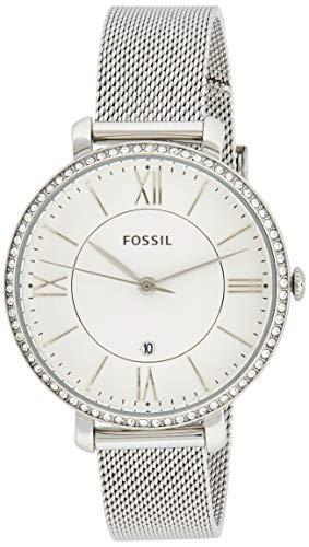Fossil Damen Analog Quarz Uhr mit Edelstahl Armband ES4627