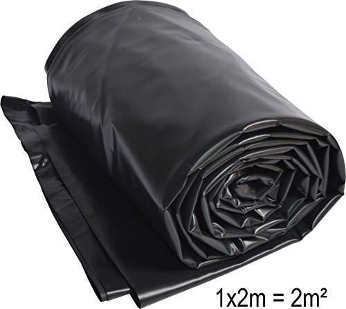 Vijverfolie PVC 2 x 1 m zwart 0,5mm vijver folie 2 m2 tuinvijver folie tuinvijver vijver vijver beekloop zeil Pond