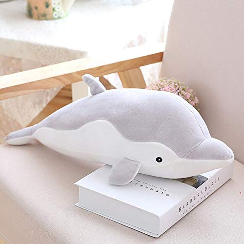 auténtico Dolphin Pillow Doll Plush Baby Toy Doll Soft Plush Animal Gift para niños Amigos 80cm Gris