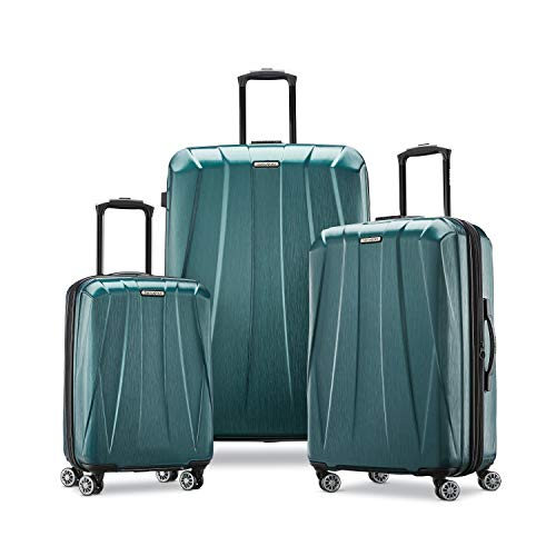 Samsonite Centric 2 Hardside Expandable Luggage with Spinner Wheels, Emerald Green, 3-Piece Set (20/24/28)