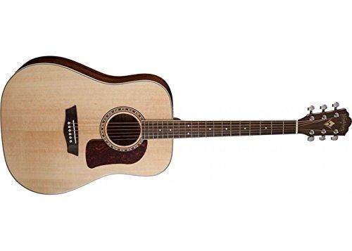 Washburn Guitarra acústica HD10S de 6 cuerdas, brillo natural
