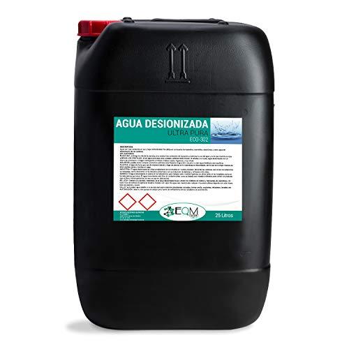Ecosoluciones Químicas ECO-302 | 25 litros | Agua desionizada Ultra Pura| Agua desmineralizada