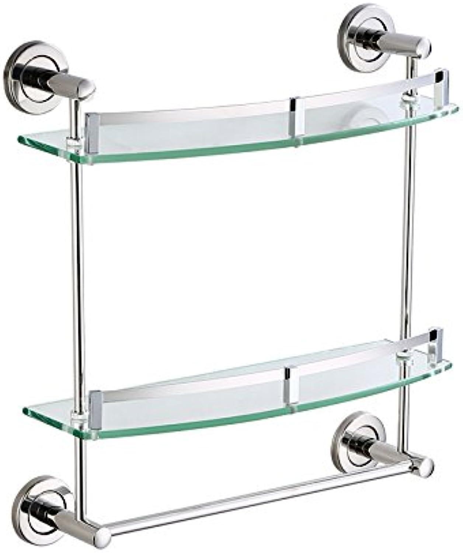 Bathroom shelves Bathroom Rack   Tempered Glass Shelf Wall, ( Size   30CM )