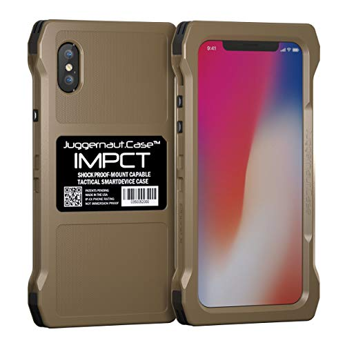 Juggernaut.Case IMPCT for Apple iPhone X or XS - Military Grade, Tactical Smartphone Phone Case, Made in USA - Flat Dark Earth