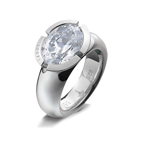 Joop! Damen-Ring 925 Sterling Silber rhodiniert Gr. 61 (19.4) JPRG90430A610