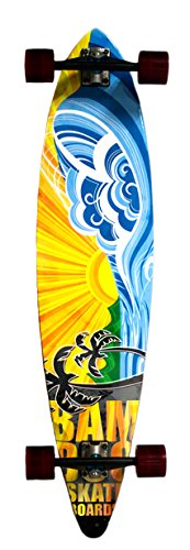 Bamboo Skateboards Pintail Longboard - Complete - 44' x 9.5' - Nirvana Graphic