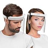 Hard 1 x Visiera protettiva per il viso, certificato medico Face Shield Antinebbia protezi...