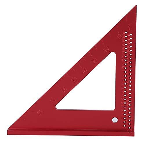 【𝐏𝐚𝐬𝐜𝐮𝐚】 Zouminyy Regla Carpintero, Regla Triangular De Trazado, Calibrador De Trazado De Agujeros De CarpinteríA 45/90 Grados Regla Triangular De Aluminio Herramienta De Marcado De Carpintero