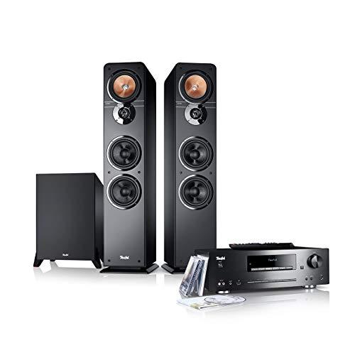 Teufel Ultima 40 Kombo Power Edition Schwarz Stereo Lautsprecher Musik Sound Hochtöner Mitteltöner Bass Speaker High End HiFi Tieftöner