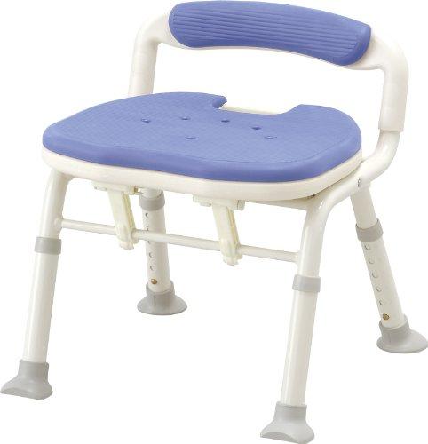 アロン化成 安寿 コンパクト折りたたみシャワーベンチ IC 骨盤サポートタイプ ブルー