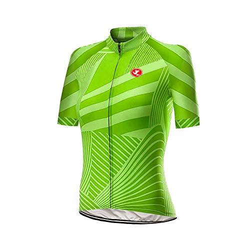 Uglyfrog Designs Bike Wear Damen Radtrikot Shirt Kurzarm Pro Team MTB Radfahren Top Radshirt Atmungsaktiv Durchgehender Reißverschluss