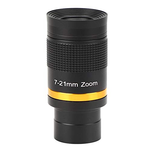"""Zoom Eyepiece for Telescopes 1.25,Versatile 7-21mm Continuous Zoom Eyepiece for 1.25"""" Astronomical Telescope Perfect Viewing Moon, Planets, Nebulae, Star Clusters"""