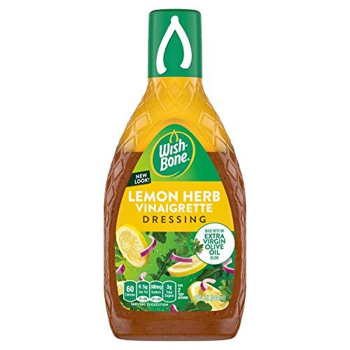 Wish-Bone Extra Virgin Olive Oil Blend Lemon Herb Dressing, 15 FL OZ