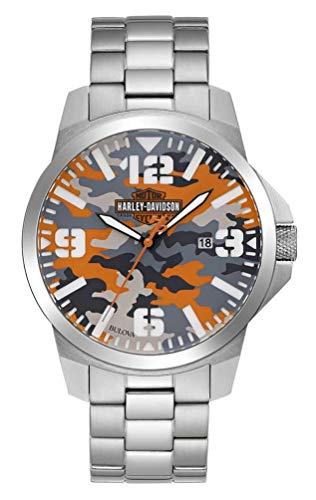 Harley-Davidson Men's Bar & Shield Logo Camo Print Stainless Steel Watch 76B190