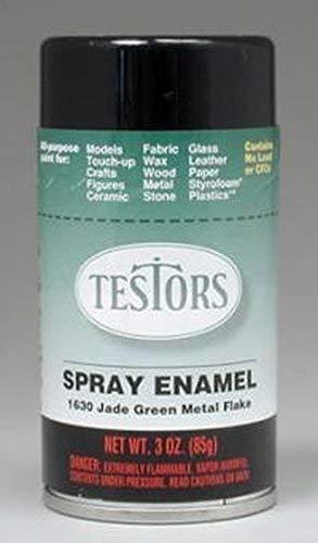 Testor Corp. Green Metal Flake Enamel Paint 3oz Spray Can