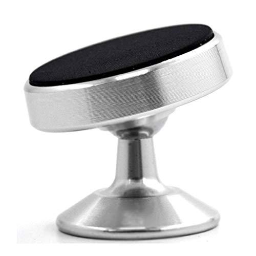 CandyTT Unieversal multifunción 360 Grados de rotación magnética Soporte para teléfono para automóvil Soporte para Tablero Accesorios para teléfono (Moonlight silverdashboard)