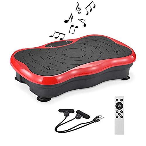 Topashe Fitness vibrationsplatte LCD Display,Fettheber- und Schüttelmaschine, stehende Körperformungsmaschine rot,Vibrationsplatte Leicht zu Bedienen