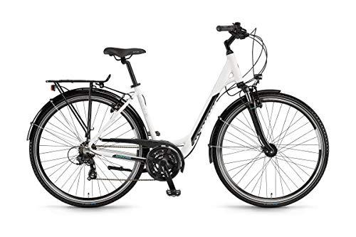 Winora Domingo 21 Unisex Trekking Fahrrad weiß/schwarz 2019: Größe: 46cm