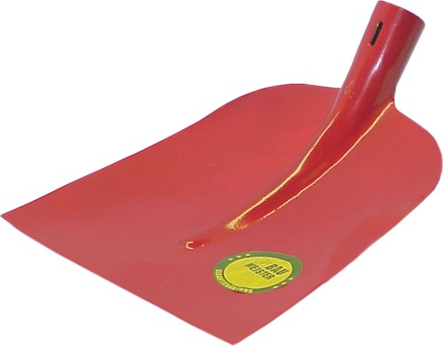 HAROMAC Holsteiner Schaufel Gr.2, roter Lack, ohne Stiel, gehärteter Stahl, 300 x 270 mm, Profiqualität, DIN 20120, Bauwerkzeuge, Spaten, Sandschaufel, Gartenschaufel