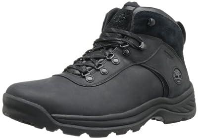 Timberland Men's Flume Waterproof Boot,Black,10 M US