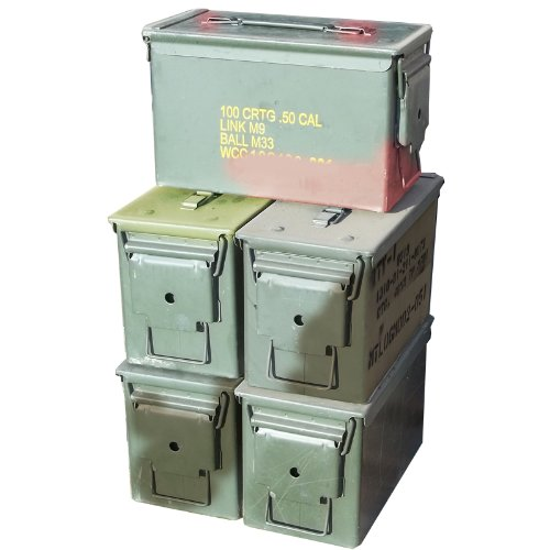 M2A1 .50 Cal Ammo Cans (5 Pack)