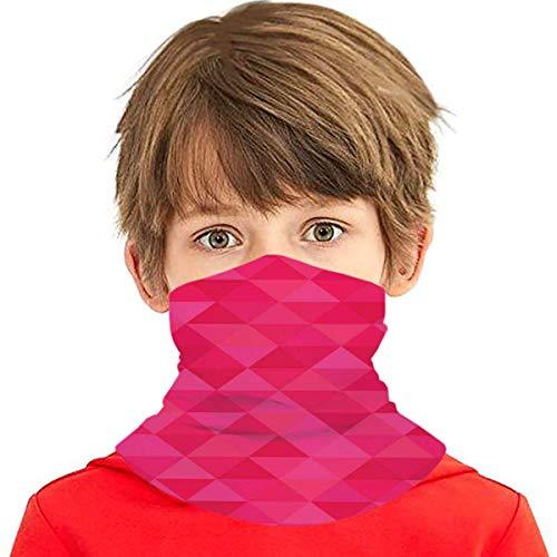 Verctor Triangolo Fucsia Geometrico Rosa Caldo copriletto Copri Bocca Sciarpa bandane Scaldacollo per Bambini