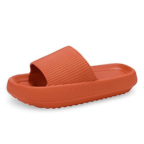 incarpo Unisex Chanclas y Sandalias de Piscina para Mujer Zapatillas Casa Hombre Verano Pantuflas de baño,Naranja,40/41