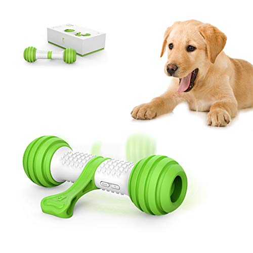 PETGEEK Automatic Interactive Dog Toys, Dog Interactive Toys for Boredom, Dog Toys Self Play for Entertainment with More Durable TPU Upgraded Material, Dog Bones for Small Medium Large Dogs