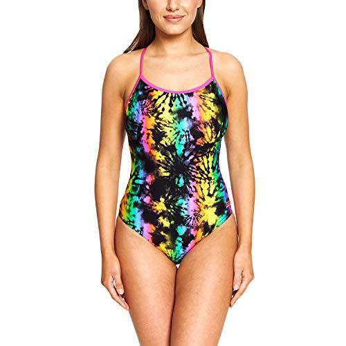 Zoggs Dreamer Lattice Back Traje de baño de una Pieza de Tela ecológica, Mujer, Multicolor, 38-Inch/UK 14