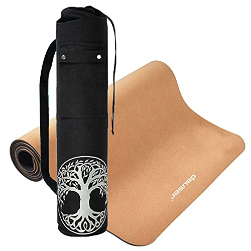 Deuser Kork Yogamatte & Yogatasche Lebensbaum Meditation Home Fitness