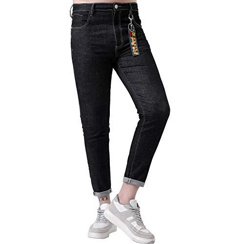 LodufnxisaliLONG dunne jeans, heren jasje, neon punten lange broek, heren broek, modieus slank broek mode/A/driezaam/één