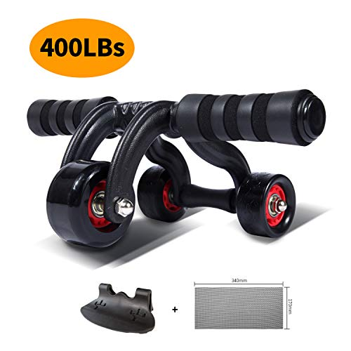KANSOON Ab Roller Wheel Exercise Equipment - 3/4 Ab Wheel Innovative Ergonomic Abdominal Roller Ab Workout Equipment - Ab Roller for Home Gym - Ab Machine for Ab Trainer -Abs Roller with Knee Pad