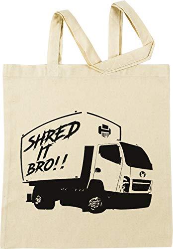 Vendax Shred It Bro!! - Meme Beige Bolsa De Compras