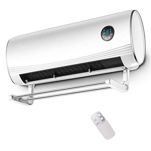 QINGMM Calefactor de Pared, Calentador de convección con termostato, Rejilla de Secado, función de temporización, Control Remoto, 2 configuraciones de Calor y Ventilador de Aire frío,3000W