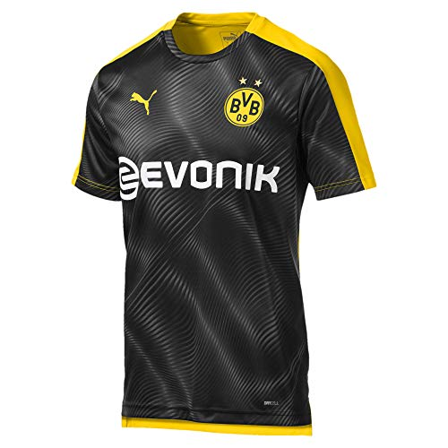 Puma Herren BVB League Stadium Jersey with Evonik Trikot, Cyber Yellow Black, L